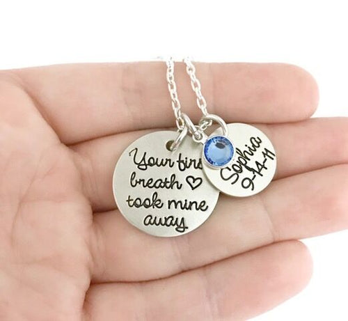 Your First Breath Necklace
