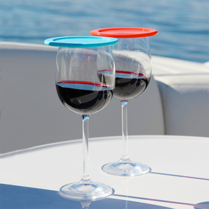 red wine glasses with covers
