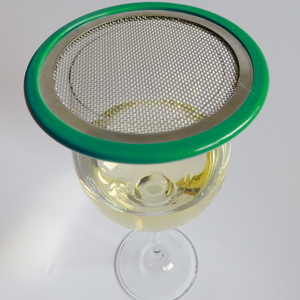 green edged wine glass lid
