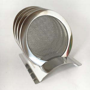 stack of stainless steel wine glass lids