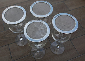 wine glasses with stainless steel lids