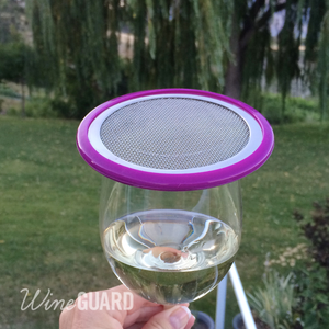 purple wine glass cover