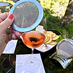 Single packaged wine glass lids