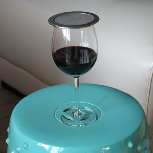 wine glass cover on a wine glass