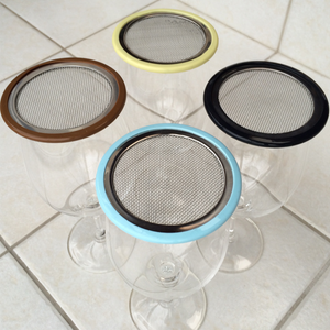 steel mesh wine glass lids