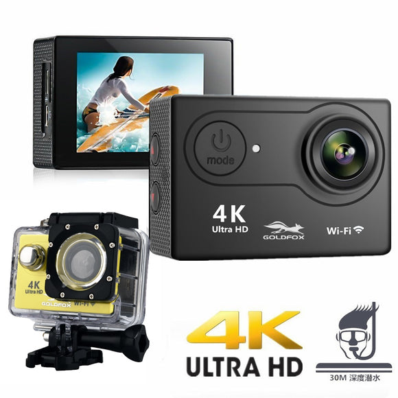 2019 100% New H9 Action Camera Ultra HD 4K / 25fps WiFi 2.0