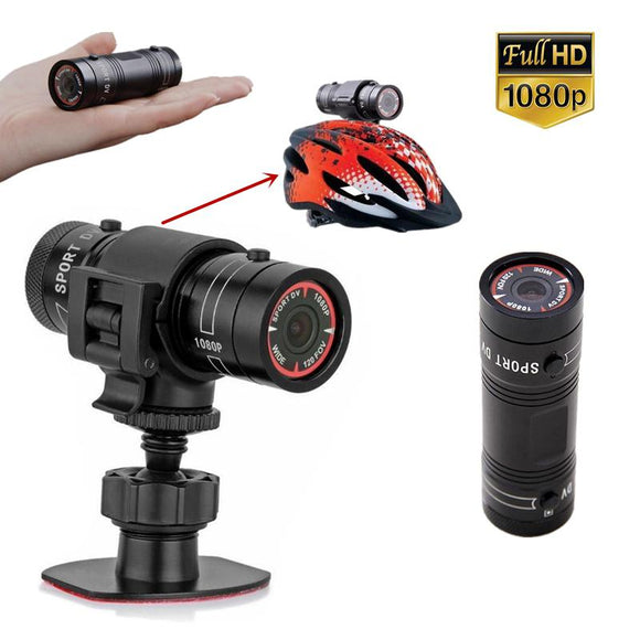 DishyKooker F9 Mini Bike Camera HD Motorcycle Helmet Sports Action Camera Video DV Camcorder Full HD 1080p Car Video Recorder