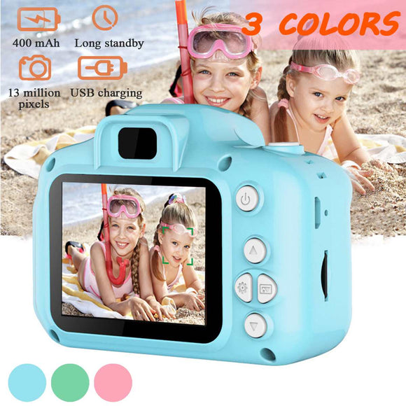13 million HD pixels Screen Chargable Digital Mini Camera Kids Cartoon CameraToys Photography Video For Child Birthday Gift