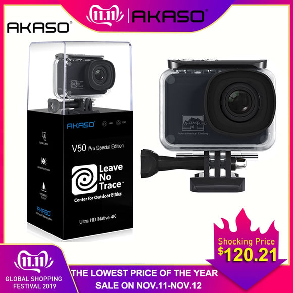 AKASO V50 Pro SE Access Fund Special Edition Action Camera Touch Screen 4K Waterproof Camera WiFi Remote Control Sports Camera