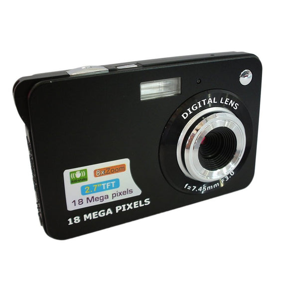 DC530 2.7'' TFT LCD Digital Camera HD 720P 18MP Digital Video Camera Camcorder with 8X Digital Zoom Anti-shake 5MP CMOS Sensor