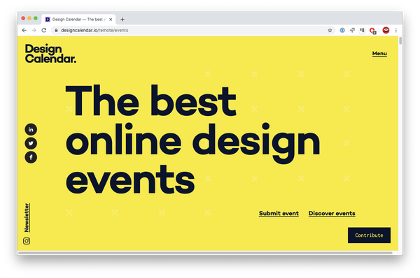 Design Calendar website