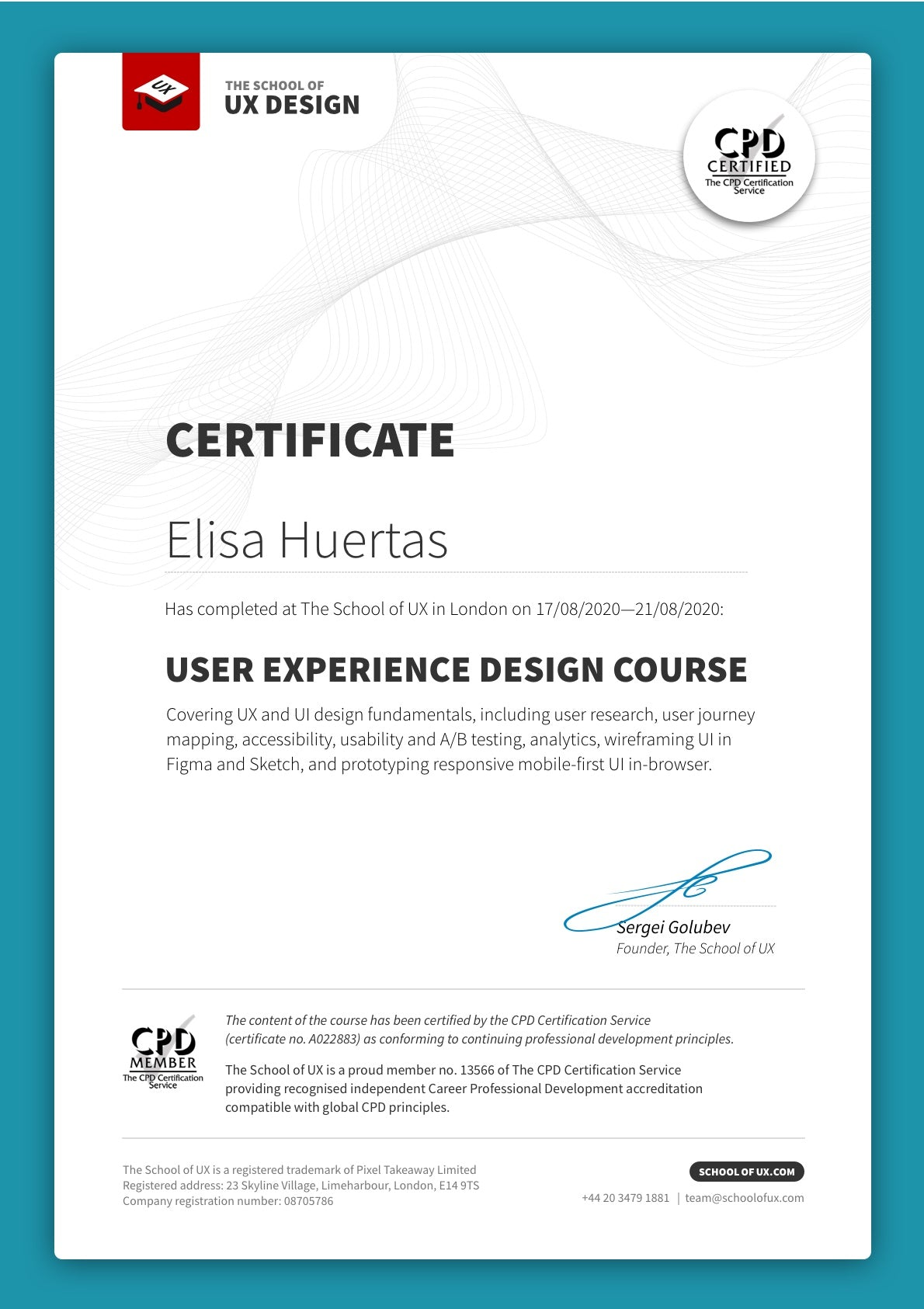The School Of Ux Certified Design Courses 159 1 5 Days