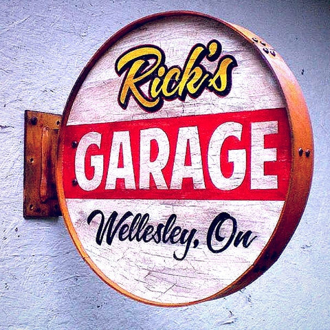 Personalized Rusty-Style Garage Sign