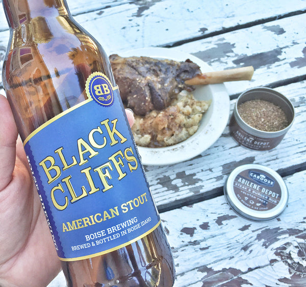 Pick up Boise Brewing's Black Cliffs American Stout and make these delicious lamb shanks. And if you don't have access to this particular beer, use a bottle of your favorite stout beer.