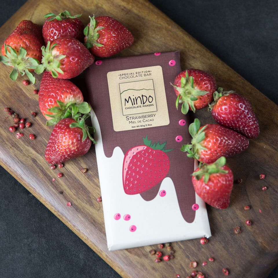 Strawberry and Miel de Cacao Milk Chocolate Bar