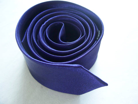 Fashion Tie Men Neck Tie Wedding Party Tie Slim Tie Dark Purple Shining Plain Tie