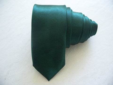 Green Tie Slim Neck Tie Shining Plain Solid Hand Made Party Wedding Tie Skinny Tie