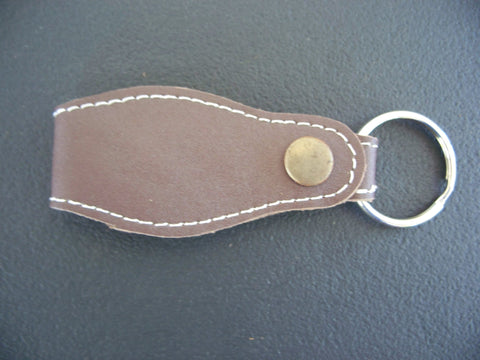 Detachable Leather Key Chain Hand Made Car Key Ring Holder Brown Car Keychain