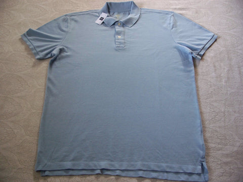 Gap Men Polo Shirt The MODERN PIQUE POLO Sky Blue T shirt Size XL Price Tag $29