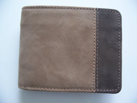 Leather Wallet Suede Genuine Leather Bi Fold Card Holder Hand Made Purse Wallet