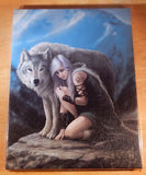 Wolf Protector Wall Plaque Art Print Anne Stokes Wolf Companion Protection Art