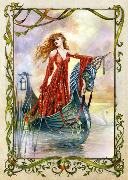 Lady of the Mists Card by Briar Medieval Fantasy King Arthur Greeting Card