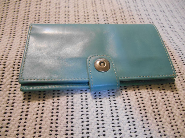 Long Wallet Genuine Leather - Unisex Bi Fold Magnetic Clutch Center Button Purse