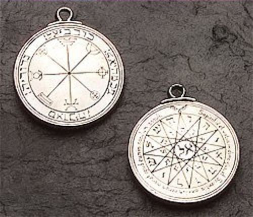 Mercury Talisman 3rd & 4th Pentacles Mercury Necklace Solomon Amulet SUCCESS Pendant