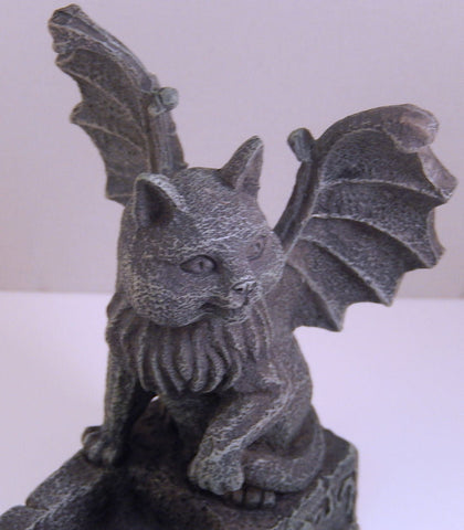 Medieval Cat Gargoyle Incense burner Chimera Winged Kitty Gothic Home Decor