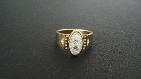 Men's Ring Bollywood Indian Traditional Golden Ring Wedding Jewelry Size 10.5 US