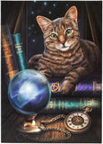 Tabby Cat Greeting Card Lisa Parker Fortune Telling Kitty Crystal Ball Greeting Card
