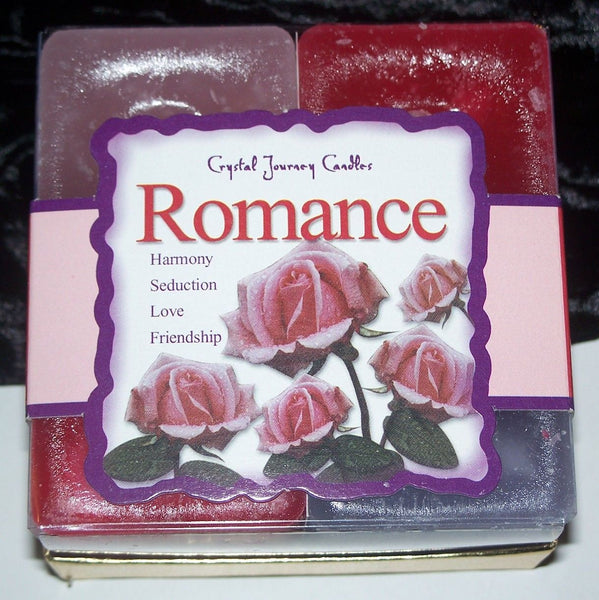ROMANCE Candles Crystal Journey Candles 4 CANDLE GIFT SET Seduction LOVE Magic