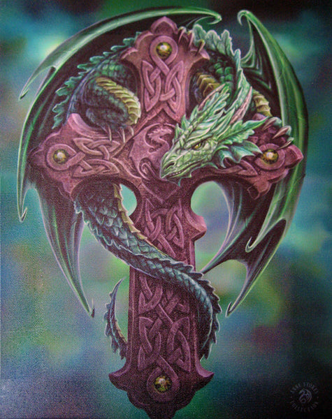 Celtic Dragon Wall Plaque Art Print Anne Stokes Guardian