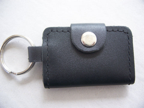 Leather Key Chain Car Key Rings Holder Genuine Leather Black Key Bag KeyChain