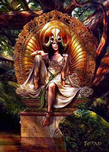 Venus of the Lotus Card by Briar Avalokiteshvara Goddess Dharma Greeting Card