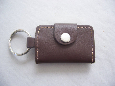 Leather Key Chain Genuine Leather Brown Key Bag Car Key Rings Holder keyChain