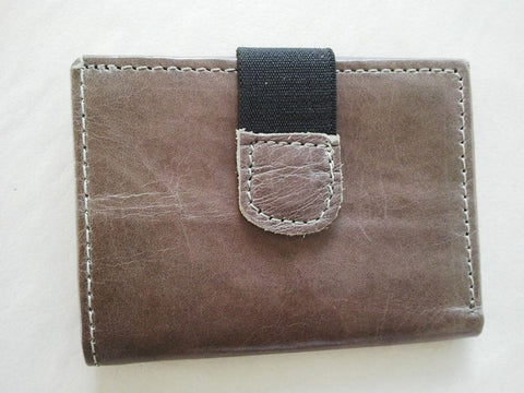 3 fold Wallet Men's Trifold Wallet - Genuine Leather - Hand Made Card Holder With Snap Purse Trifold Wallet