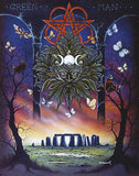 Green Man Greeting Card Peter Pracownik Stonehenge Pentacle Wiccan Pagan Greeting Card