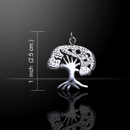 TREE of LIFE Charm .925 Sterling Silver Pendant Cosmic Celtic WORLD TREE Charm Pendant