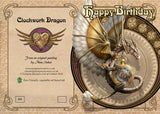 Steampunk Dragon Card | Anne Stokes Clockwork Dragon Happy Birthday Card