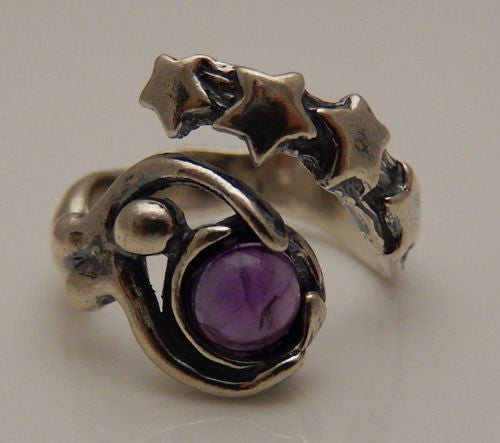 STARBIRTH Astral Goddess Ring in .925 Sterling SILVER with choice of natural gemstone - Star Magick Astral flow