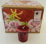 Sensual Candle Rose Geranium Ylang Ylang Sunbeam Candles Attract Love votives