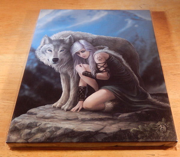 Wolf Protector Wall Plaque Art Print Anne Stokes Wolf