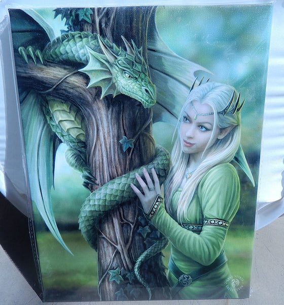 Kindred Spirits Dragon Wall Plaque Art Print Anne Stokes