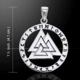 VALKNUT Norse Warriors Knot Pendant in .925 Sterling Silver - Nordic Viking Rune Runic amulet