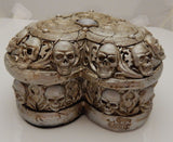 Paladin's Tithe Keepsake Trinket Box Alchemy Gothic Skull Heart box for Treasure