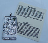 The EMPRESS Tarot Card Pendant .925 Silver with gemstone selection - Venus Love Abundance Pendant