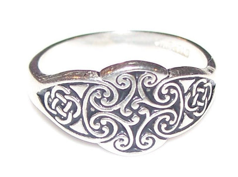 GODDESS Dana DANU Cross Ring in .925 Sterling Silver - CELTIC IRISH Ring Tuatha De Dannan