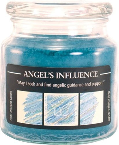 ANGEL'S INFLUENCE Herbal Magic Crystal Journey CANDLES Jar Candle MANIFESTATION