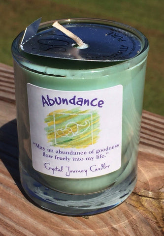 Abundance Soy Candle Crystal Journey candles